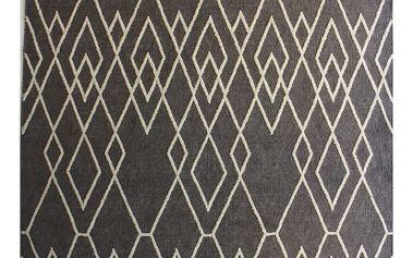 Šedý vlněný koberec Linie Design Omo,140x200 cm - doprava zdarma!