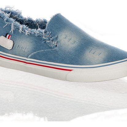 Fashion world Dámské džínové boty slip on Tommy