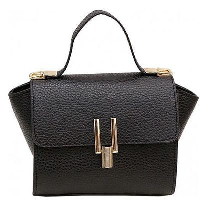 Dámská kabelka s prvky ve zlaté barvě
