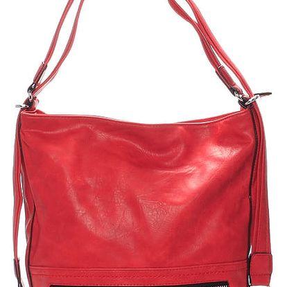 Dámská crossbody kabelka červená - Delami Francina červená