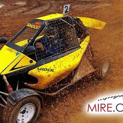 Jízda v závodně upravené buggy určené na kartcross v Přibicích nebo v Přerově pro 1