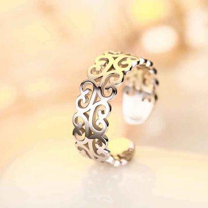 Retro dámský prsten s ornamenty - dodání do 2 dnů