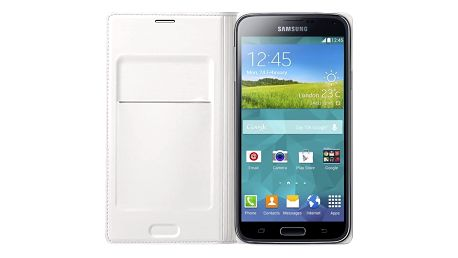 Samsung flipové pouzdro s kapsou EF-WG900B pro Galaxy S5, bílá - EF-WG900BWEGWW
