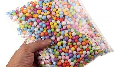 Sada dekoračních pěnových kuliček (2 mm) - různé barvy