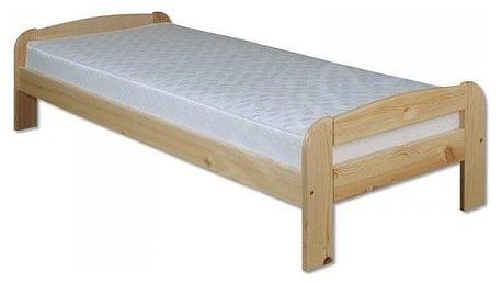 Dřevěná postel 90x200 LK122 borovice