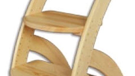 Dětská židle s nastavitelnou výškou KT201 masiv dub