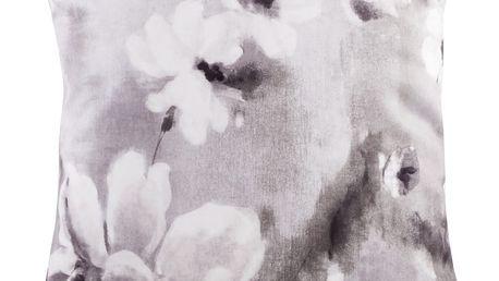 Polštář PALLOMA šedá 45x45 cm motiv květy HOME & YOU Varianta: Povlak na polštář s výplní, 45x45 cm