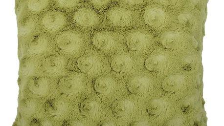 Polštář LUCKEE zelená 45x45 cm HOME & YOU Varianta: Povlak na polštář s antialergickou prošívanou výplní, 45x45 cm