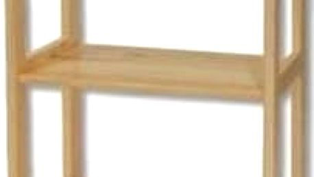 Regál RG125 masiv - šířka 60 cm borovice