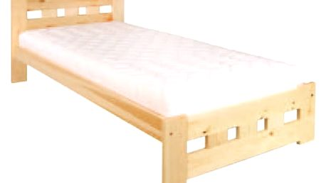 Dřevěná postel 90x200 LK145 dub