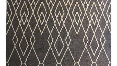 Šedý vlněný koberec Linie Designc Omo,170x200 cm - doprava zdarma!