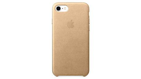 Kryt na mobil Apple Leather Case pro iPhone 7 - žlutohnědý (MMY72ZM/A)