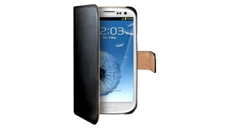 CELLY Wally pro Samsung Galaxy S III/ S III Neo, PU kůže, černá - WALLY232