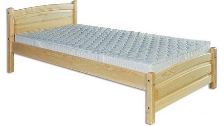 Dřevěná postel 90x200 LK125 borovice