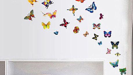Motýlci - samolepka na zeď