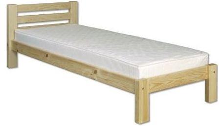 Dřevěná postel 90x200 LK127 borovice