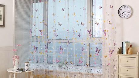 Dlouhý závěs s motýlky v různých velikostech - 2 barvy