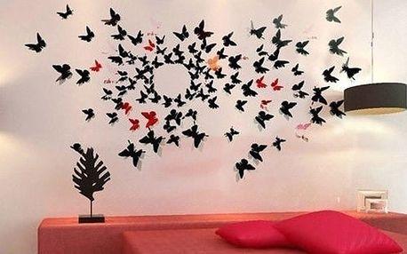 Dekorace na zeď - motýlci - dodání do 2 dnů
