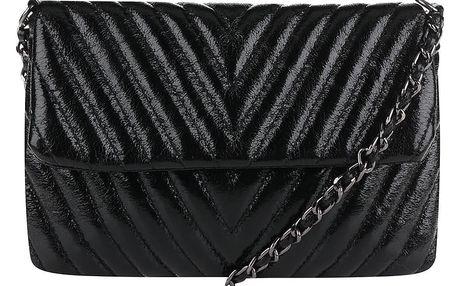 Černá malá prošívaná crossbody kabelka/psaníčko TALLY WEiJL