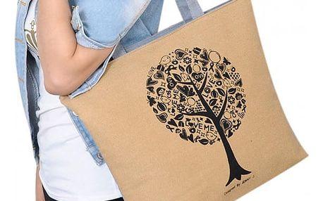 Velká letní taška s rozkvetlým stromem