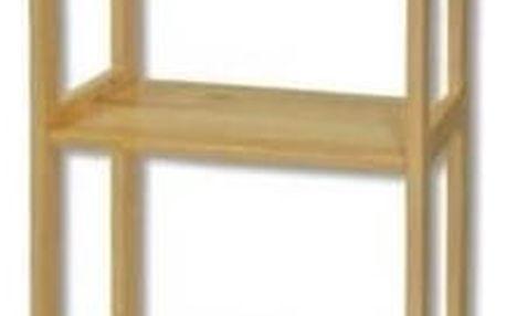 Regál RG123 masiv - šířka 40 cm borovice