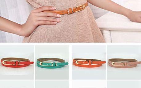 Úzký pásek z umělé kůže - několik barev
