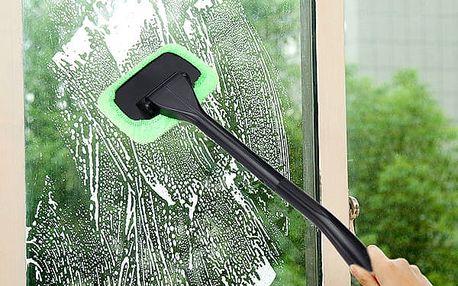Utěrka na mytí skel z mikrovlákna s násadou