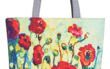 Dámská barevná taška s květinami