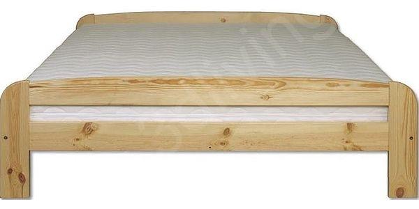 Dřevěná postel 140x200 LK108 borovice