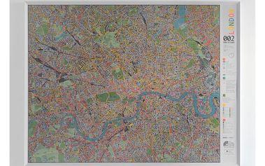 Mapa Londýna Street map, 130x100cm