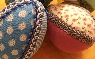 Velikonoční vajíčko formou nešitého patchworku
