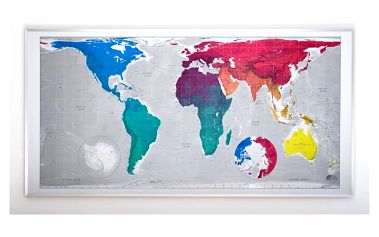 Magnetická mapa světa Huge Future Map, 196x100 cm - doprava zdarma!