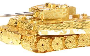 3D puzzle - Tank Tiger ve zlaté barvě