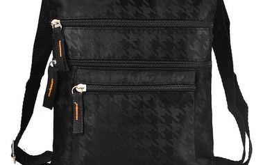 Pánská taška se třemi zipy