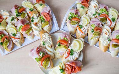 Mix oblíbených variant chlebíčků na váš stůl