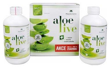 Pharma Activ Aloe Live šťava z aloe vera 99,7% 2 x 1000ml