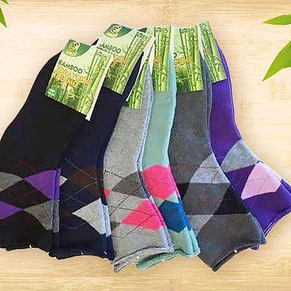 6 párů dámských bambusových termo ponožek v různých velikostech