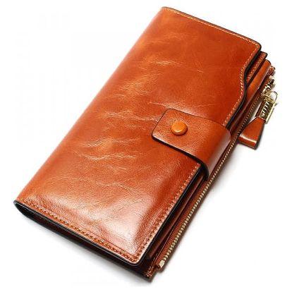 Velká kožená peněženka pro dámy - 5 barev