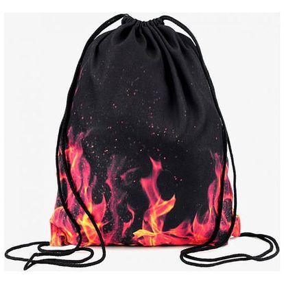 Vak na záda v ohnivém designu