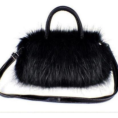Dámská mini kabelka s chlupy - 2 barvy