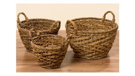 Sada 3 košíků z banánového listí Boltze Pascal - doprava zdarma!
