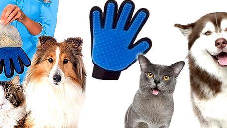 Masážní rukavice pro vyčesávaní srsti psů a koček. S touto rukavicí perfektně rozčesáte Vašeho čtyřnohého miláčka bez bolesti a přemlouvání.