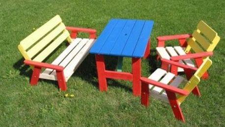 Dětský dřevěný zahradní set KASIA FSC