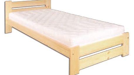 Dřevěná postel 90x200 LK146 olše