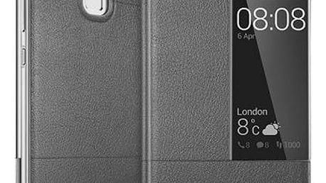 Pouzdro Huawei S-View P9 šedé Šedá