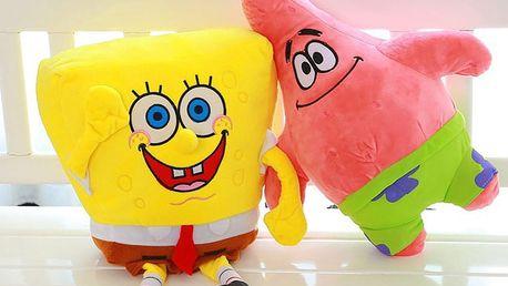 Plyšový Spongebob a Patrik Hvězdice - Plyšáci z oblíbeného seriálu.