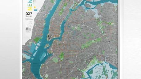 Mapa New York City Street Map, 130x100cm