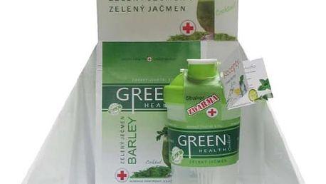 Zelený ječmen Green Health: 250 g prášku + shaker a poštovné v ceně