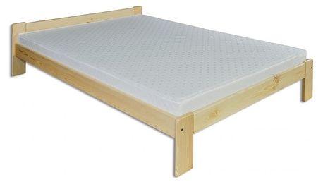 Dřevěná postel 120x200 LK107 borovice