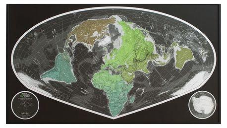 Zelená širokoúhlá mapa Future Map, 101x58cm